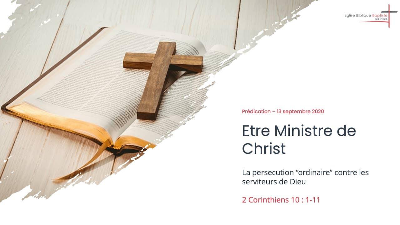 etre ministre de jesus christ 2 corinthiens 10