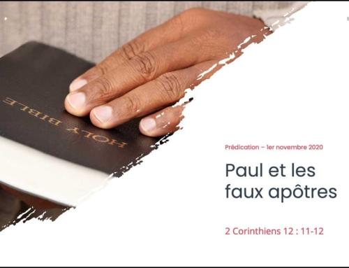 108. Paul et les faux apôtres (2 Corinthiens 12:11-12)